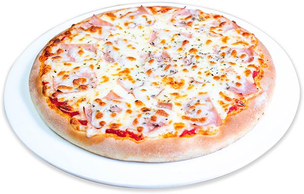 Pizza de jamón y queso