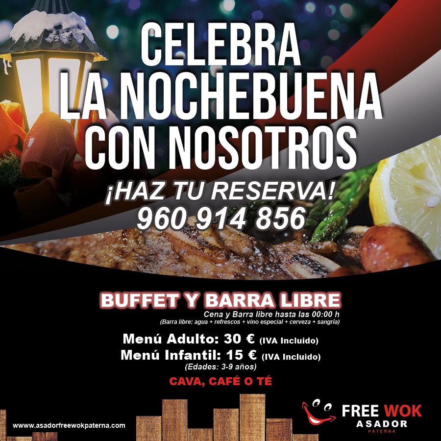 Celebra Nochebuena en Asador City Wok de Paterna (Valencia)
