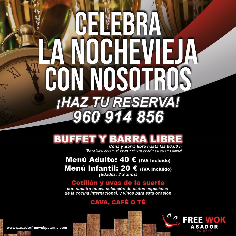Celebra Nochevieja en Asador City Wok de Paterna (Valencia)