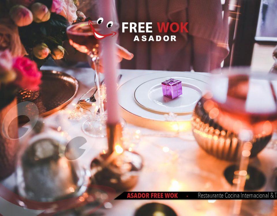 Celebra Nochebuena en Asador Free Wok de Paterna (Valencia)